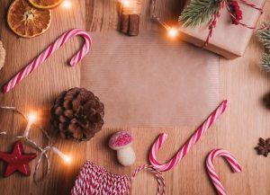 Christmas and magic mushroom